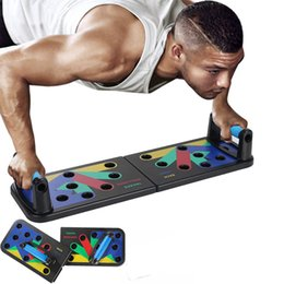 abdominal exercise equipment fitness Promo Codes - 9 in 1 Push Up Rack Training Board ABS abdominal Muscle Trainer Sports Home Fitness Equipment for body Building Workout Exercise