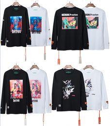 Deutschland 2019 New HERON PRESTON Stickerei Frauen Männer Rollkragen Langarm T-Shirts T-Shirts Hiphop Streetwear Männer Baumwolle T-Shirt HP Marke S-XL supplier women s long sleeve t shirts Versorgung