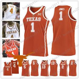 43af4b4e678 2019 Texas Longhorns Retro orange white NCAA College Basketball Jersey #1  Andrew Jones 2 Matt Coleman 5 Royce Hamm Jr. 13 Jase Febres