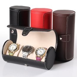 Fashion  Watch Display Gift Box Case Roll 3 Slot Wristwatch Necklace Bracelet Jewelry PU Leather Box Storage Travel Pouch от