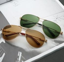 2019 designer óculos quadros para homens Nova Moda Homens Mulheres Óculos De Sol De Metal Frame Brand Designer de Luxo de Condução Óculos de Sol Lentes Masculino Feminino Óculos com casos designer óculos quadros para homens barato