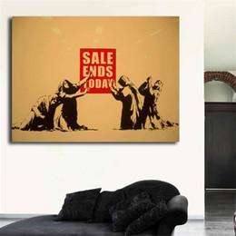 2019 pintura a óleo jesus Banksy Consumidor Jesus Venda Termina Graffiti HD Pintura Da Lona Impressão Sala de estar Decoração de Casa Moderna Arte Da Parede Pintura A Óleo Cartaz pintura a óleo jesus barato