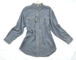 2019 camisas de bolso duplo homens Camisas longas do verão da luva para bolsos dobro cinzentos da camisa de seda de 100% dos homens desconto camisas de bolso duplo homens