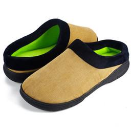 2019 zapatillas de invierno para hombre 2019 Winter Home Slippers Cloud Zapatos para hombre Flock Warm Piso antideslizante Zapatillas de casa para interior Amantes del dormitorio interior Parejas Nuevo # G8 rebajas zapatillas de invierno para hombre