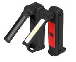 2019 jagd taschenlampe rot grün weiß COB LED-Arbeitsleuchte Wiederaufladbare USB-Taschenleuchte, 360 ° drehbar, 3 Beleuchtungsarten, Magnetfuß, Drehhaken, wasserdicht, Inspektionsleuchte