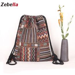 eb186d95c8c5e boho rucksack Rabatt Zebella Frauen Strick Stoff Rucksack Weiblichen  Böhmischen Stil Ibiza Tribal Ethnic Gypsy Boho