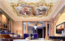 Personajes de papel 3d online-Custom 3D Photo Wallpaper 3D Ángel romántico dios dios dios personaje mítico sala de estar zenith 3D techo Papeles de pared decoración para el hogar