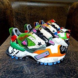 O envio gratuito de 2019 Senhoras de couro redondo dedos esportes Sapatas Running imprimir boliche sapatos Flatform rendas tênis ao ar livre até Mix cor tamanho 34-40 de