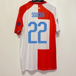 Customização da camiseta on-line-2019 20 Slavia Praha customize soccer jersey Camiseta European T-shirt home red white Tomas Soucek Czech Republic FC club