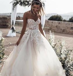 Robes dentelle online-Western Country Brautkleider Lace Chiffon Modest V-Ausschnitt Halbarm Lange böhmische Brautkleider Plus Size Robe de mariée en dentelle