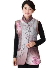 Panos tradicionais chineses on-line-História de Xangai colete chinês chinês tradicional colete de pano para as mulheres / jaquetas sem mangas tradicionais 2 cores 2360