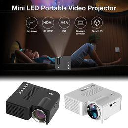 UC28C Portable Video Projector Home Theater Cinema Office Supplie Black white LCD Mini Projector Media Player For Smart Phones nereden 3d projektör ucuz tedarikçiler