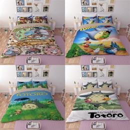 Deutschland Weihnachten Cartoon Totoro Tröster Set 3D Print Duvet Bettwäsche Multi-Choice H0031 Kissenbezüge Bettbezug Bett Bettwäsche Set Versorgung