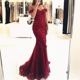 33b2544b8358 evening dress drop shoulder 2019 - Off The Shoulder Red Evening Dresses  Mermaid Style Long Evening