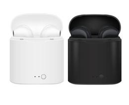 Micrófono inteligente online-Nuevo i7S TWS Mini Bluetooth Auriculares Auriculares Estéreo Bass Auriculares inalámbricos Auriculares con micrófono Caja de carga para todos los teléfonos inteligentes