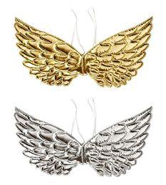 vestiti da filo Sconti Angel Fairy Wings Dress Up Wing Halloween Matrimonio Festa di compleanno Accessori per costumi Sfondo Decor Oro Argento favo eventi