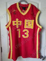 Billige china jersey s online-Billige kundenspezifische Yao Ming Basketball Jersey China Chinese Genäht Fertigen Sie jede mögliche Namenanzahl MÄNNER-FRAUEN-JUGEND-JERSEY XS-5XL besonders an