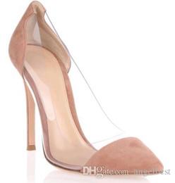 9e05a529632b37 2019 Printemps Eté Style Tan Couleur Des Talons Hauts Habillées Chaussures  Femmes Pompes Transparent PVC Patchwork Bureau Formelle Dames Chaussures  Grande ...