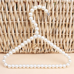 2019 perchas de perlas Percha Percha Percha Percheros Perchero Ropa de alambre grueso Estante Suministros para mascotas Pequeño y exquisito Blanco 3 3hw C1 perchas de perlas baratos