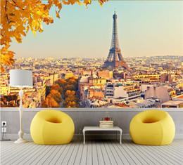 Projetos de papel de parede da cozinha on-line-Personalizado 3D Wallpaper Design Outono Em Paris Foto Cozinha Quarto Sala Murais de Parede Papel De Parede Parágrafo Quarto