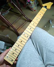 standard 21 22 24 Frettes peinture brillante érable Guitare électrique Cou érable feston touche incrustation points Guita accessoires pièces ? partir de fabricateur
