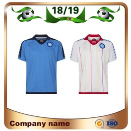 Maillot de football napoli mertens en Ligne-1926 Napoli rétro maillots de football 2019 Napoli # 17 HAMSIK # 14 MERTENS # 24 INSIGNE Soccer Shirt personnalisé uniforme de football ventes