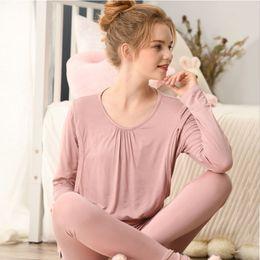 ae05a289577e0 2019 New Maternity Pajamas Spring Autumn Casual Modal Nursing Nightgown  Breastfeeding Sleepwear Postpartum Pregnant Pyjama A317