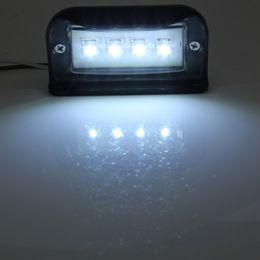 2019 barras de telhado universais O preto universal 10-30V Waterproof a luz da matrícula do número de 4 diodos emissores de luz para o carro / Van do reboque do caminhão
