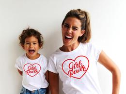 camisas da harmonização da mamã do bebê Desconto Mãe Baby Girl Power Matching Camiseta T-Shirt Da Família Outfit Roupas de Verão de Manga Curta Casuais T Camisa Olhar Família