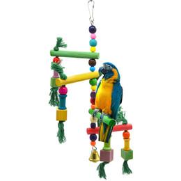 Spielskalen online-Papagei Artikel Vogelspielzeug Läufer Spiel Stufen Klettern die Leiter Scaling Ladder Swing Stair Staircase Treppenregal Klettergerüst