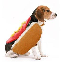 2019 costumes de chien drôles Pâques Hot Dog Vêtements Animaux Hamburger Sans Manches Vêtement Chien Kitty Garder Au Chaud Gilet Belle Drôle Costume Nouvelle Arrivée 18tbC1 costumes de chien drôles pas cher