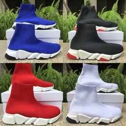 zapatos de plataforma chica plana Rebajas Balenciaga Entrenador de velocidad Rojo Azul Calcetines de lujo planos Zapatos Plataforma de moda para niña Zapatos casuales Hombres Mujeres Zapatillas de deporte Tamaño 36-45
