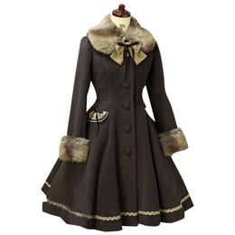 cappotto di lolita dolce Sconti Bella lana con cappuccio Sweet Lolita cappotto ragazze cappotti di inverno Marca lungo inverno cappotto 3Colors