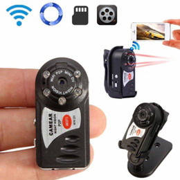 Full hd mini camara inalambrica online-Q7 Mini Wifi DVR Videocámara IP inalámbrica Cámara de video Grabadora Cámara de visión nocturna por infrarrojos Detección de movimiento Micrófono incorporado DHL libre