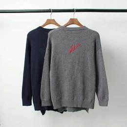 koreanische frauen pullover langarm design Rabatt 19SS Luxus Europäischen Sweatshirt Brief Bestickt Gedruckt Pullover Mode Warme Wollige Paar Frauen Herren Designer Pullover HFYYMY009