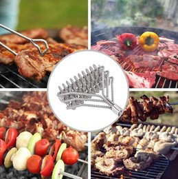 metal bbq grill Coupons - Durable 44cm handle barbecue grill cleaner brush rugged BBQ grill brush barbecue long handle cleaner cooking brushes cleaning tool
