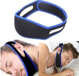 Спальный пояс онлайн-Anti Snore Chin Strap Стоп Храп Пояса Храпа Апноэ Сна Поддерживающие Ремни для Женщин Мужчина Ночной Спальный Инструмент GGA1942