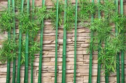 Pintura moderna de bambú online-Papel pintado para pintar Nuevo chino Moderno Creativo Bamboo HD 3D Bamboo Forest TV Fondo de pared