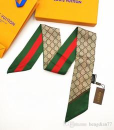 ruban tartan en gros Promotion Designer Silk HANDBAG Sac foulard Bandeaux Nouveau luxe femmes foulards en soie 100% Top soie sac foulard bandes de cheveux 7x120cm choisir