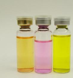 Flaconi iniezione vetro trasparente online-1000pcs / lot 10ml flaconcini di vetro trasparente con capsula off tappi di gomma, 1/3 oz bottiglia di vetro iniezione