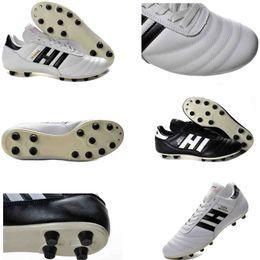 ddf270e476523 Mens Copa Mundial Leather FG Soccer Shoes original Soccer Cleats 2015 World  Cup Football Boots Size 39-45 Black White Orange botines futbol