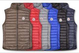 Новый стиль мужской жилет онлайн-Новый стиль мужской зимний пуховик жилеты сверхлегкий теплая куртка пальто Куртка мужской пуховик жилеты мужчины молния одежда повседневная верхняя одежда