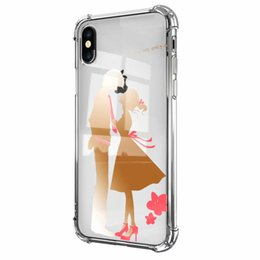 kiss flowers Coupons - Kiss Metallic Acrylic Case For Iphone XR XS MAX X 10 8 7 Plus 6 Hard Plastic+Soft TPU Shockproof Crystal Lip Cat Lover Flower Plating Covers
