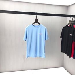2019 trajes de hinata 2020ss primavera y el nuevo algodón de alto grado del verano impresión de manga corta ronda panel de cuello de la camiseta Tamaño: M-L-XL-XXL-XXXL Color: negro blanco qq57