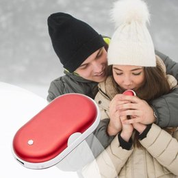 5V elektrischer Winter-Handwärmer USB aufladbare Kiesel-Doppelseiten-Heizung Mini-langlebige Taschenenergienbank 2 in 1 von Fabrikanten