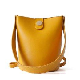 bolsos de cuero simples Rebajas Simple Mini net red bucket bag cuero genuino bolso de mujer nuevo bolso de moda bolso de hombro marea 2019