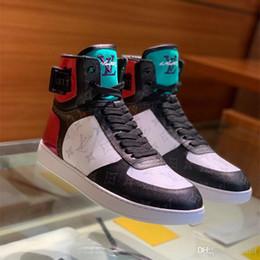 Newst Sapatilha Sapatilha Dos Homens Elegantes Hi-top Alto Top Sneakers Designers Marca Damier Formadores para Os Homens Ao Ar Livre Casual Caminhadas Sapatos de Escalada de