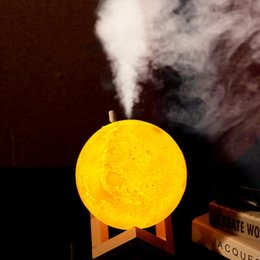 2019 fumo incenso por atacado Nova 880 ML Umidificador de Ar 3D Lua lâmpada Difusor de luz Aroma Óleo Essencial USB Ultra-sônica Humidificador Noite Legal Névoa Purificador