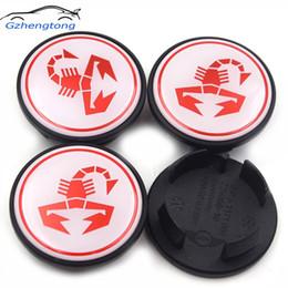 stickers mini cooper autocollants Promotion Gzhengtong 4pcs / set 54mm moyeu de centre de roue Caps emblème de voiture Abarth Scoprtion Logo badges autocollant de décalque pour MINI Cooper