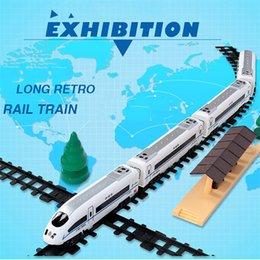 Моделирование электрический высокоскоростной железнодорожный поезд литья под давлением игрушечные автомобили ретро поезда трек модель развивающие игрушки для мальчиков 1718 cheap electric train model toy от Поставщики электропоезд модель игрушка